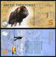 Арктика / Arctic terr. 5 dollars 2012 UNC ОБРАЗЕЦ