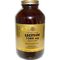 Лецитин, Lecithin, Solgar, 1360 мг, 250 капсул