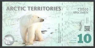 Арктика / Arctic terr. 10 dollars 2010 UNC ОБРАЗЕЦ