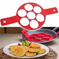 Силиконовая форма для оладий Flippin non-stick pancake maker W-18 FV, фото 1