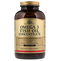 Рыбий жир в капсулах, Omega-3 Fish Oil, Solgar, 240 капсул