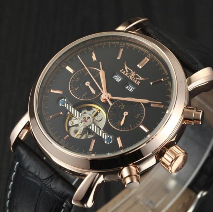 7ab14552 Элитные механические часы с автоподзаводом Jaragar Turboulion Star /  ГАРАНТИЯ
