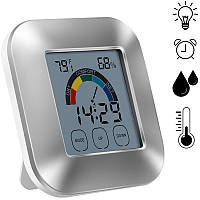 Крытый Термометр Гигрометр Таймер Часы Смарт-цифровой тестер влажности температуры Подсветка