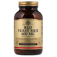 Красный дрожжевой рис, Red Yeast Rice, Solgar, 600 мг, 120 капсул