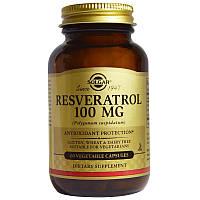 Ресвератрол (Resveratrol), Solgar, 100 мг, 60 капсул