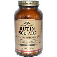 Рутин, Rutin, Solgar, 500 мг, 250 таблеток