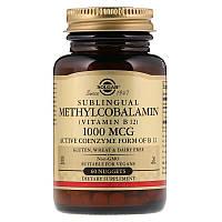 Витамин В12, Solgar, 1000 мкг, 60 таблеток