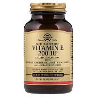 Витамин Е, Vitamin E, Solgar, 200 МЕ, 100 капсул