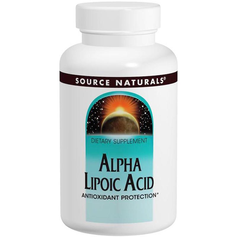 Альфа-липоевая кислота, Source Naturals, 100 мг, 120 таб.