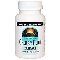 Экстракт дикой вишни (Cherry Fruit ), Source Naturals, 500мг, 90 таб.