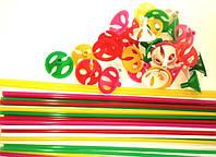 Палочка для воздушного шара цветная 10шт