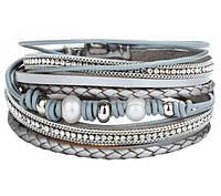 Женский многослойный браслет Primo Grasia  - Silver