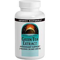 Зеленый чай экстракт (Green Tea Extract), Source Naturals, 60 таб.