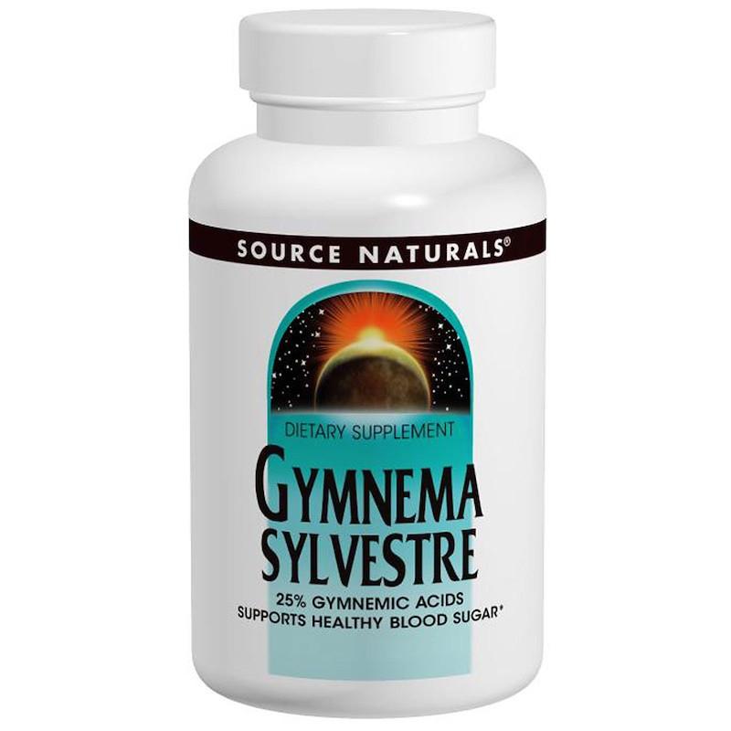 Джимнема Сильвестра, Source Naturals, 450 мг, 120 таб.