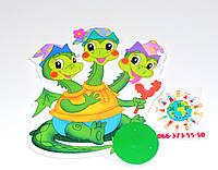 Магнитный стенд для крепления рисунка Змей Горыныч