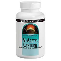 N-ацетинцистеин (ацетилцистеин), N-Acetyl Cysteine, Source Naturals, 600 мг, 120 таб.