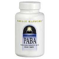 ПАБК (пара-аминобензойная кислота), PABA, Source Naturals, 250