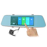 Зеркало-видеорегистратор G-1002 3в1 экран 6.86 дюймов + Видео парковка.