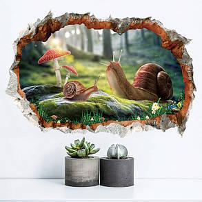 Miico3DТворческийПВХстенынаклейки Главная Декор Mural Art Съемные стикеры Декор улиток, фото 2