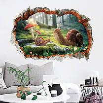 Miico3DТворческийПВХстенынаклейки Главная Декор Mural Art Съемные стикеры Декор улиток, фото 3