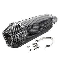 38-51мм Универсальная нержавеющая сталь мотоцикл Труба глушителя из углеродного волокна 1TopShop, фото 2