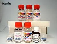 Полный профессиональный набор №14 для реставрации и покраски гладкой кожи Dr.Leather (50мл), фото 1