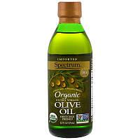 Spectrum Naturals, Органическое оливковое масло холодного отжима, 12,7 жидких унций (375 ml)