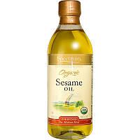 Spectrum Naturals, Органическое кунжутное масло, нерафинированное, 16 жидких унций (473 мл)