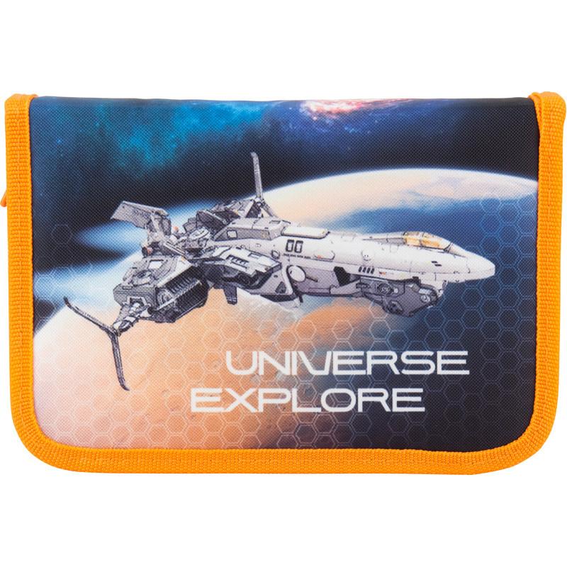 Пенал школьный Kite Universe explore 621-4 1 отделение, 1 отворот, без