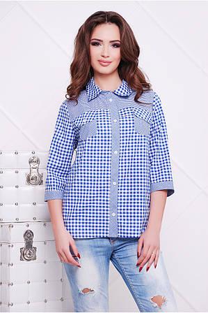 Рубашка из натуральной, хлопковой ткани Аленушка Разные цвета