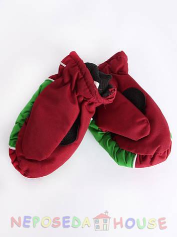 Детские зимние термоварежки для девочки 2-х лет, фото 2