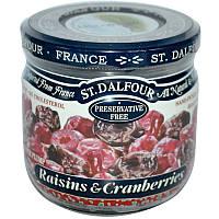 Клюква с изюмом, Raisins & Cranberries, St. Dalfour, 200 г