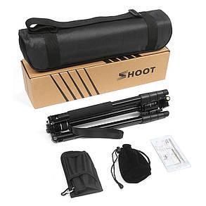 SHOOT XTGP439 Алюминиевый сплав 4-х секций камера Штатив для подставки DSLR с шаровой головкой 8 кг Максимальная нагрузка 1TopShop, фото 2