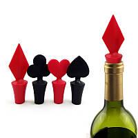 ПокерShapedWineStopper1шт. Силиконовый Вакуумный герметичный винный стоп-бар Набор
