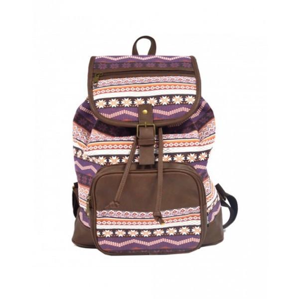 Рюкзак молодежный 2U Knitted loops кофейный 2U-3516