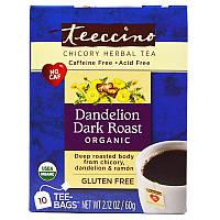 Травяной чай из цикория, Chicory Herbal Tea, Teeccino, 10 пакетов, 60 г