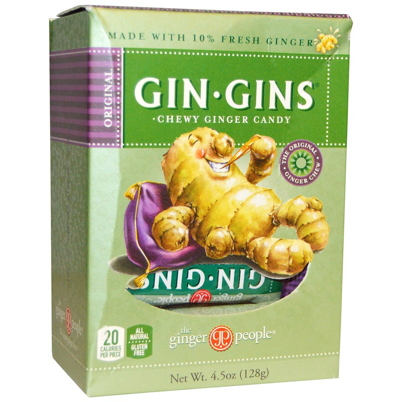 Имбирные жевательные конфеты, Gin-Gins, The Ginger People, 128 г