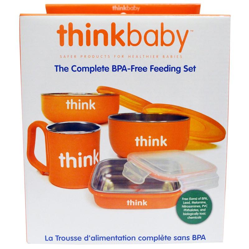 Набор для кормления оранжевого цвета, Think, 1 набор