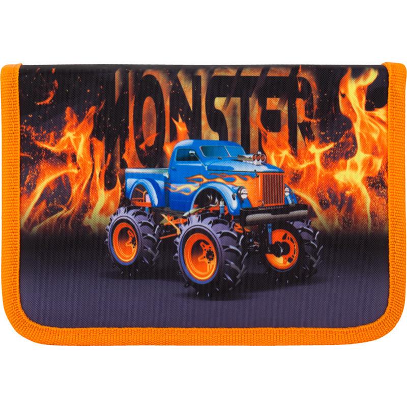Пенал школьный Kite Monster truck 622-7 1 отделение, 2 отворота, без н