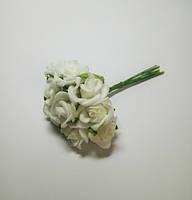 Цветок Роза из фоамирана белая