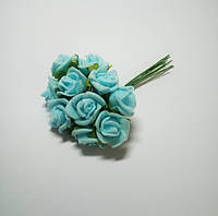 Цветок Роза из фоамирана голубая