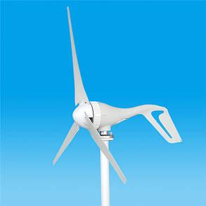 12V / 24V 500W S3 Алюминиевая рама 3/5 Лопасти Малый горизонтальный ветрогенератор ветротурбины NE-500s3, фото 2
