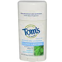 Tom's of Maine, Дезодорант без алюминия, долго держится, лесной запах, 2.25 унций (64 г)