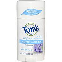 Tom's of Maine, Стойкий дезодорант, без алюминия, с дикой лавандой, 2,25 унции (64 г)