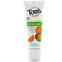 Детская зубная паста (оранжевый манго), Tom's of Maine, 119 г