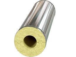 Базальтовый цилиндр для труб в оцинкованном кожухе, толщина 30, диаметр 114 мм, фото 1