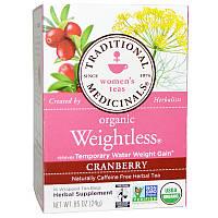 Traditional Medicinals, Traditional Medicinals, Чай для женщин, Органический чай для похудения с клюквой, Без кофеина, 16 чайных пакетиков, 0,85 унции