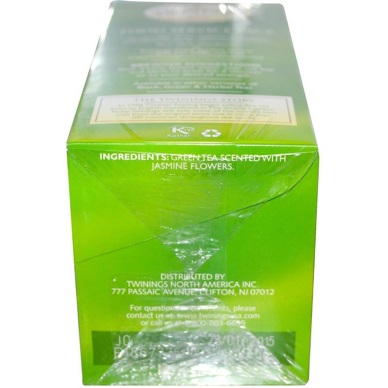 Twinings, Зеленый чай , жасмин 25 чайных пакетиков, 1.76 унции (50 г)