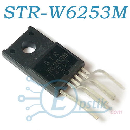 STR-W6253M, ШІМ-контролер з вбудованим ключем, 650В 67кГц, 90Вт, TO220F-6