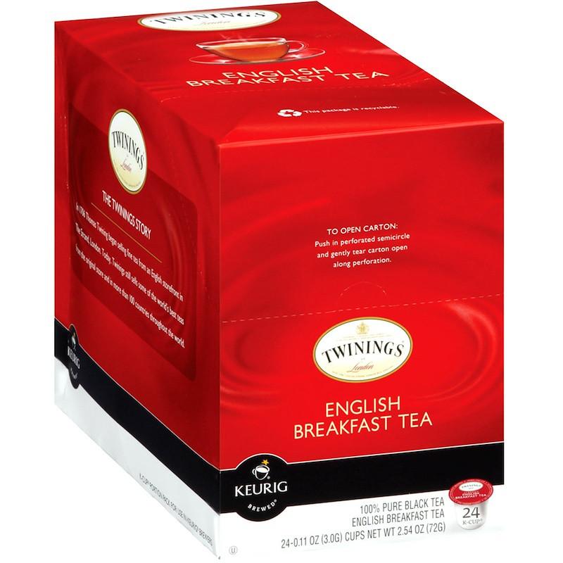 Twinings, Keurig, английский чай для завтрака, черный 24 K-Cups, 0,11 унции (3,0 г) каждый
